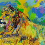 Leroy Neiman Paintings Resting Lion Painting