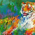 Leroy Neiman Paintings Resting Tiger Painting