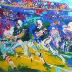 Leroy Neiman Paintings Rushing Back Painting