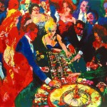 Leroy Neiman Roulette Painting