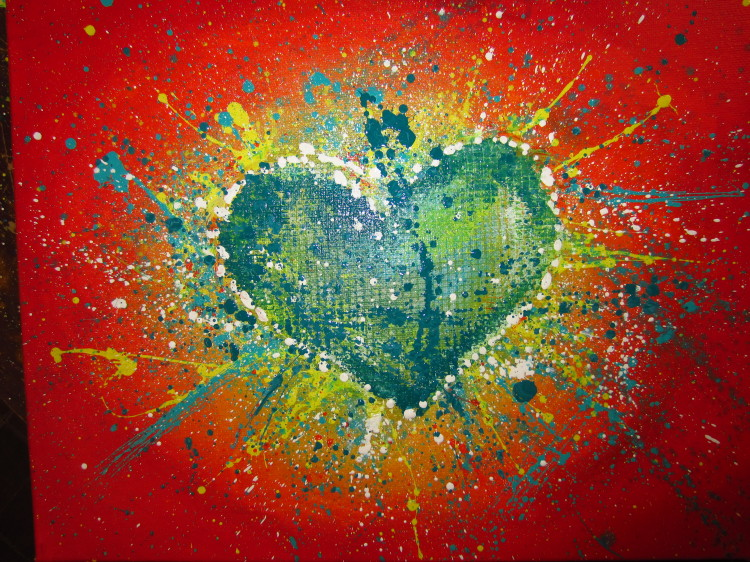 Let Make Painting Abstract Heart