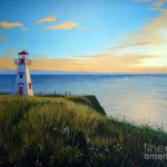 Lighthouse Painting Rick Gallant Cape Tryon Fine Art