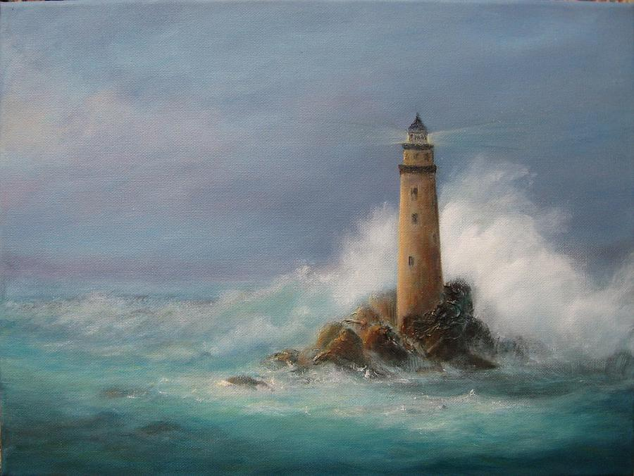 Lighthouse Painting Rita Palm Fine Art Prints And