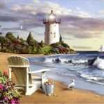 Lighthouse Paintings Art Design