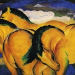 Little Yellow Horses Franz Marc Wikipaintings