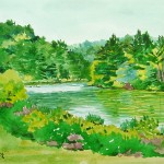 Loretta Puncer Landscape Watercolor Paintings From Stroud Run State