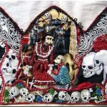 Los Muertos Cynthia Gaub From Fabric Art Collages
