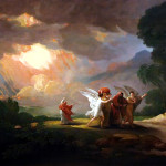 Lot Fleeing Sodom Bible Art
