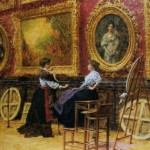 Louis Beroud Musee Louvre Painting Anysize Off