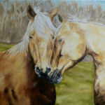Love Bond Horses Original Oil Painting Whatdebradoes Weblog