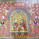 Madhubani Paintings Doli Colour For Display Only