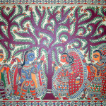 Madhubani Paintings Ram Sita First Meeting Colour Style For Display