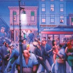 Mae The Street Archibald Motley Oil Painting Reproduction