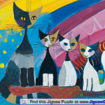 Many Cats Paintings Rosina Wachtmeister Under The Rainbow