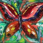 Maria Jimenez Oil Paintings Colourful Butterfly