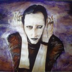 Marilyn Manson Finished Namco Fan Art Traditional Paintings