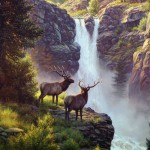 Mark Keathley Elk Drawing Painting