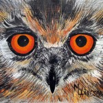 Mary Arneson Fine Art Watching Owl Painting Colorado Artist
