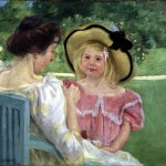 Mary Cassatt Paintings The Garden Painting