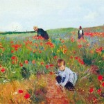 Mary Cassatt Poppies Painting