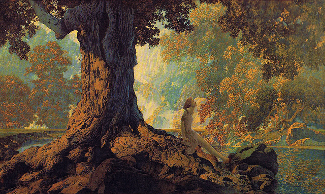 Maxfield Parrish Dreaming October Modified
