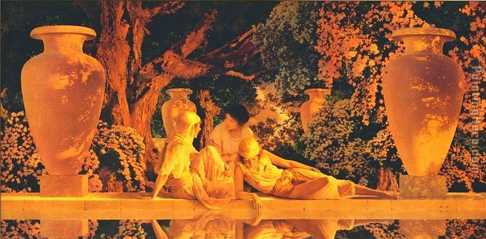 Maxfield Parrish The Garden Allah Painting