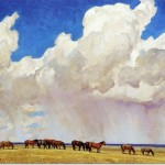 Maynard Dixon Prairie Shower Painting