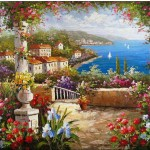 Mediterranean Italian Villas Oil Paintings