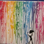 Melted Crayon Art Happy Times