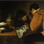 Men Eating Humble Table Diego Velazquez Wikipaintings