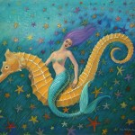 Mermaid Painting Sue Halstenberg Seahorse Fine Art