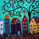 Mexican Town Painting Fine Art Print