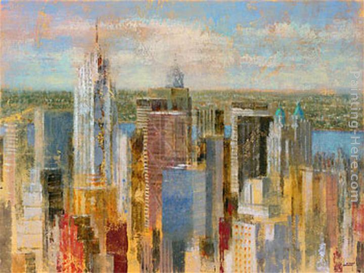 Michael Longo Cityscape Painting Framed Paintings For Sale