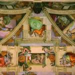 Michelangelo Sistine Chapel Ceiling Detail From The Famous Painting