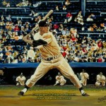 Mickey Mantle Sports Art Painting
