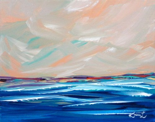Minimalist Painting Original Seascape Acrylic Etsy Galore For
