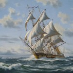 Model Ships Paintings Old Ironsides