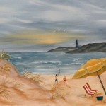 Modern Art Watercolor Acrylic And Oil Paintings Beach Painting