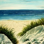Modern Art Watercolor Acrylic And Oil Paintings Sand Dunes Beach