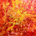 Modern Art Yelow Red Orange Large Original Painting Rich