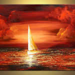 Modern Oil Painting China Christmas Craft Seascape