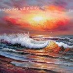 Modern Oil Painting Sell Seascape Made China