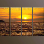 Modern Oil Paintings Canvas Sunglow Painting Set