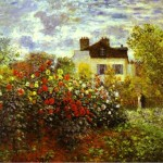 Monet Garden Argentiule Oil Canvas