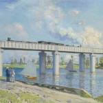 Monet Painting The Bridge Argenteuil
