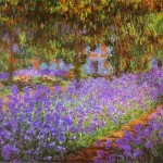 Monet Paintings Claude Irises Garden Painting