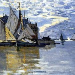 Monet Paintings French Rowing And Sailing Boats The Sea