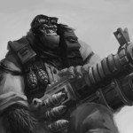 Monkey Picture Character Soldier Big Gun