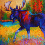 Moose Painting Marion Rose Majestic Monarch Fine Art