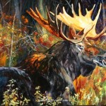 Moose Paintings Terry Lee